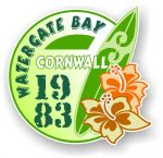 Cornwall Watergate Bay 1983 Surfer Surfing Design Vinyl Car sticker decal 97x95mm